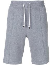 Pantalones cortos de algodón grises de Brunello Cucinelli
