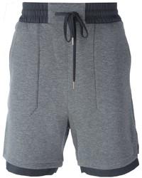 Pantalones cortos de algodón grises de Helmut Lang