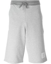 Pantalones cortos de algodón grises de Thom Browne