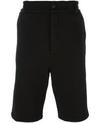 Pantalones cortos de algodón negros de Helmut Lang