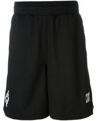 Pantalones cortos de algodón negros de Marcelo Burlon County of Milan