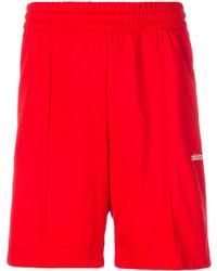 Pantalones cortos de algodón rojos de adidas