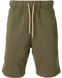 Pantalones cortos de algodón verde oliva de Diesel