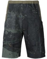 Pantalones cortos de algodón verde oscuro de Longjourney