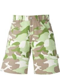 Pantalones cortos de camuflaje en beige