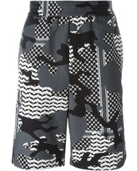Pantalones cortos de camuflaje grises de Neil Barrett