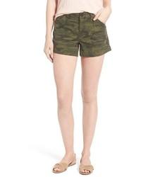 Pantalones cortos de camuflaje verde oliva