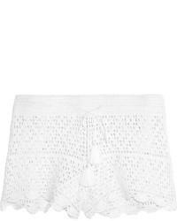Pantalones cortos de crochet blancos