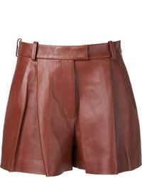 Pantalones cortos de cuero marrónes de 3.1 Phillip Lim