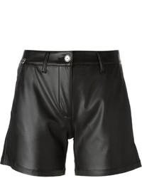 Pantalones cortos de cuero negros de Ermanno Scervino