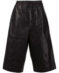 Pantalones cortos de cuero negros de Juun.J