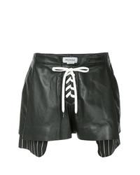 Pantalones cortos de cuero negros de Monse