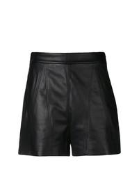Pantalones cortos de cuero negros de Neil Barrett