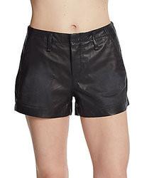 Pantalones Cortos de Cuero Negros de Rag and Bone