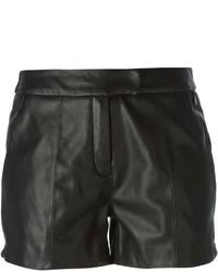 Pantalones cortos de cuero negros de Urban Code