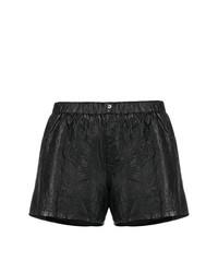 Pantalones cortos de cuero negros de Zadig & Voltaire