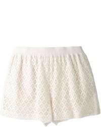 Pantalones cortos de encaje blancos de See by Chloe