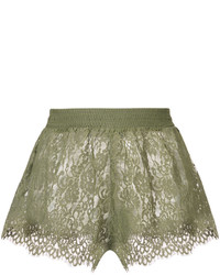 Pantalones cortos de encaje verde oliva de Puma