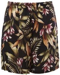 Pantalones Cortos de Flores Negros de Faith Connexion