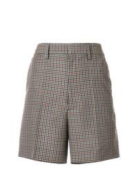 Pantalones cortos de lana a cuadros marrónes de Maison Margiela