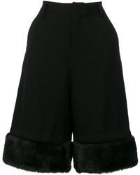 Pantalones Cortos de Lana Negros de Comme des Garcons