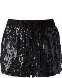 Pantalones cortos de lentejuelas negros
