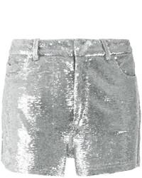 Pantalones cortos de lentejuelas plateados de IRO