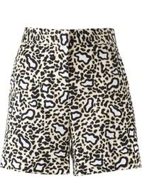 Pantalones cortos de leopardo en beige de Stella McCartney