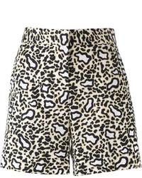 Pantalones cortos de leopardo marrón claro de Stella McCartney