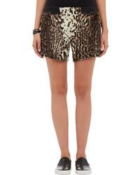 Pantalones cortos de leopardo marrónes