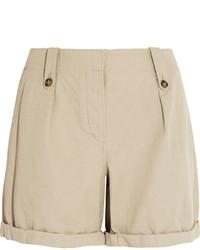 Pantalones cortos de lino en beige