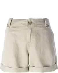 Pantalones cortos de lino en beige de Diesel