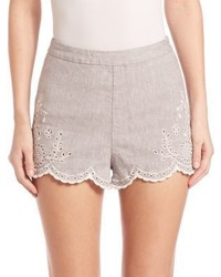 Pantalones cortos de lino grises