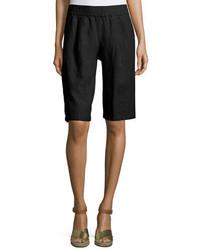 Pantalones cortos de lino negros