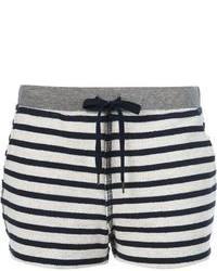 Pantalones cortos de rayas horizontales en blanco y negro de Alexander Wang
