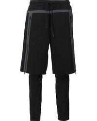 Pantalones cortos de rayas horizontales negros de Puma