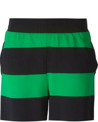 Pantalones cortos de rayas horizontales verdes de Stella McCartney