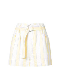 Pantalones cortos de rayas verticales amarillos de Frame Denim