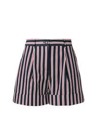 Pantalones cortos de rayas verticales azul marino de P.A.R.O.S.H.