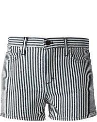 Pantalones Cortos de Rayas Verticales Blancos y Azul Marino de Theory
