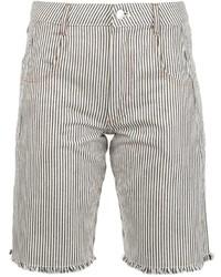 Pantalones Cortos de Rayas Verticales Blancos y Negros de Alexander Wang