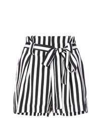 Pantalones Cortos de Rayas Verticales Blancos y Negros de L'Agence