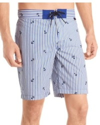 Pantalones cortos de rayas verticales celestes
