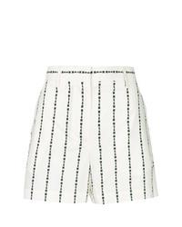 Pantalones cortos de rayas verticales en blanco y negro de MSGM