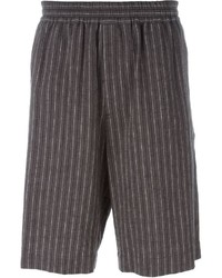 Pantalones cortos de rayas verticales grises de MSGM