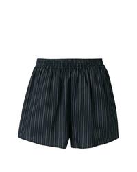Pantalones cortos de rayas verticales negros de MM6 MAISON MARGIELA