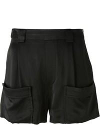 Pantalones cortos de satén negros de Band Of Outsiders