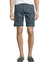Pantalones cortos de seersucker azules