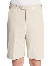 Pantalones Cortos de Seersucker Beige