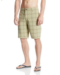 Pantalones cortos de tartán azules de Volcom